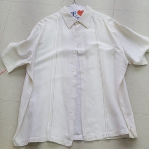 Off White Linen Button Up